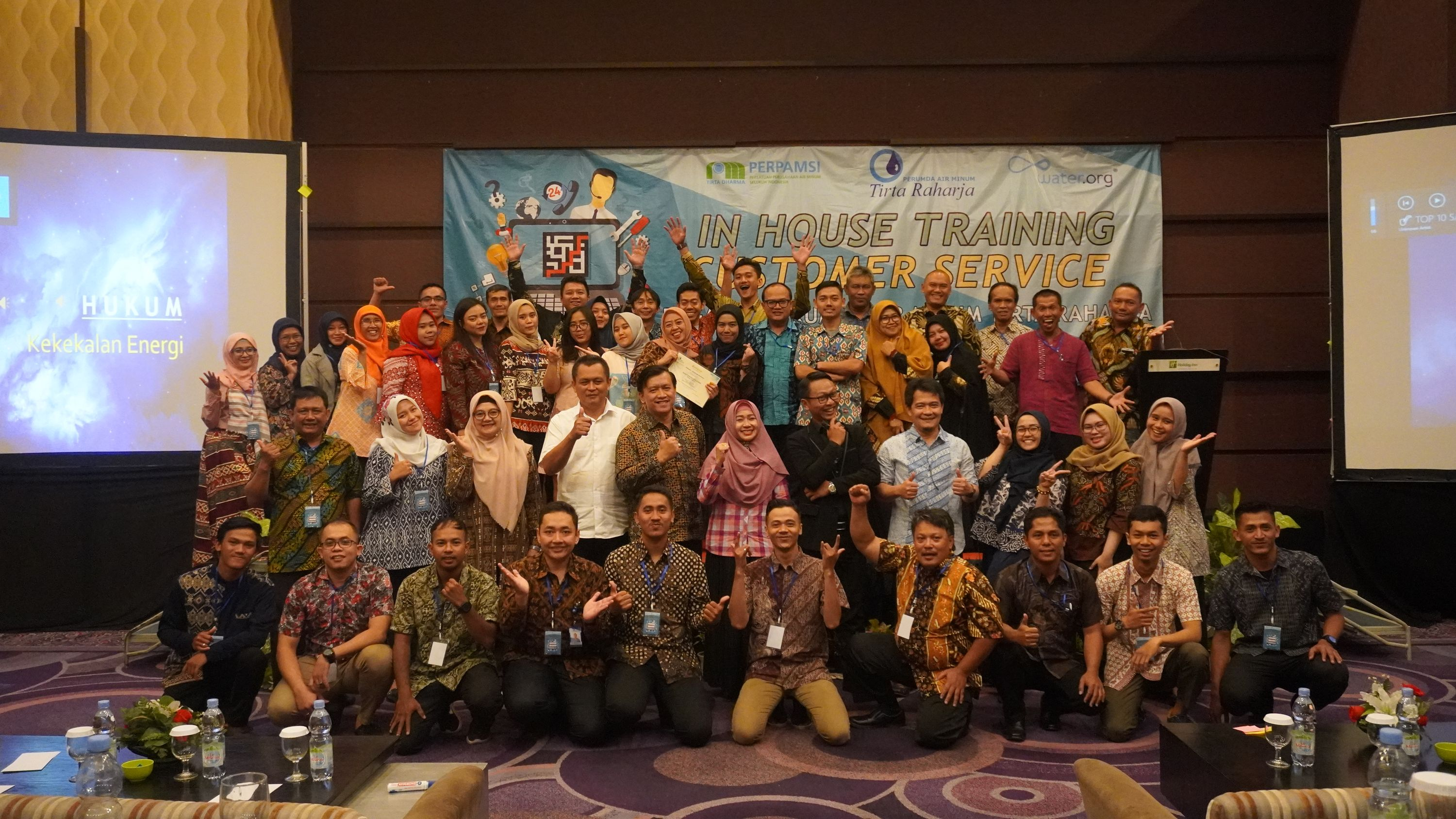 In House Training Customer Service Pegawai Perumda AIr Minum Tirta Raharja 2019